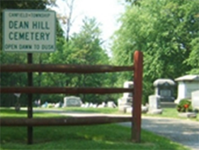 Dean Hill Cemetery entrance and sign - Cemetery